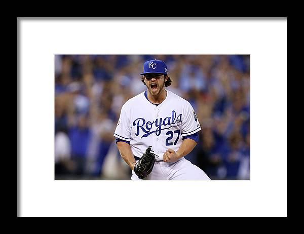 Playoffs Framed Print featuring the photograph Brandon League by Ed Zurga