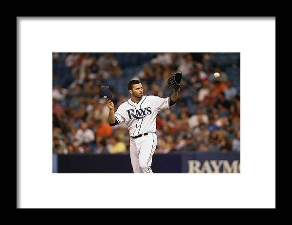 American League Baseball Framed Print featuring the photograph Brandon League by Scott Iskowitz