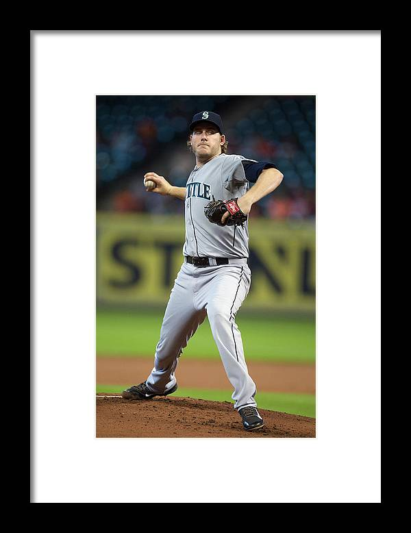 American League Baseball Framed Print featuring the photograph Brandon Maurer by Bob Levey