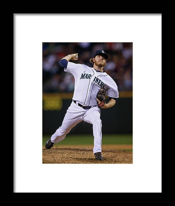 American League Baseball Framed Print featuring the photograph Brandon Maurer by Otto Greule Jr
