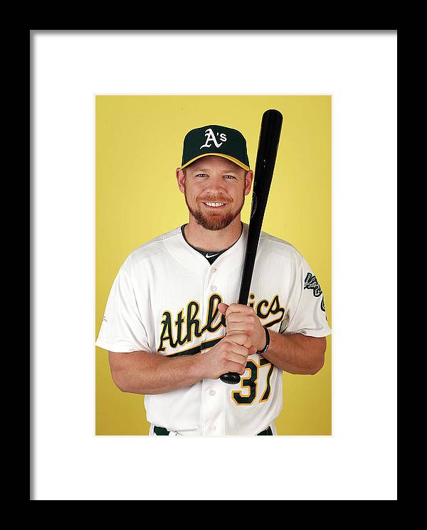 Media Day Framed Print featuring the photograph Brandon Moss by Christian Petersen