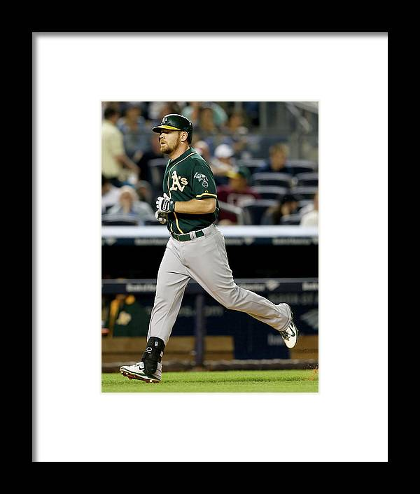 American League Baseball Framed Print featuring the photograph Brandon Moss by Elsa