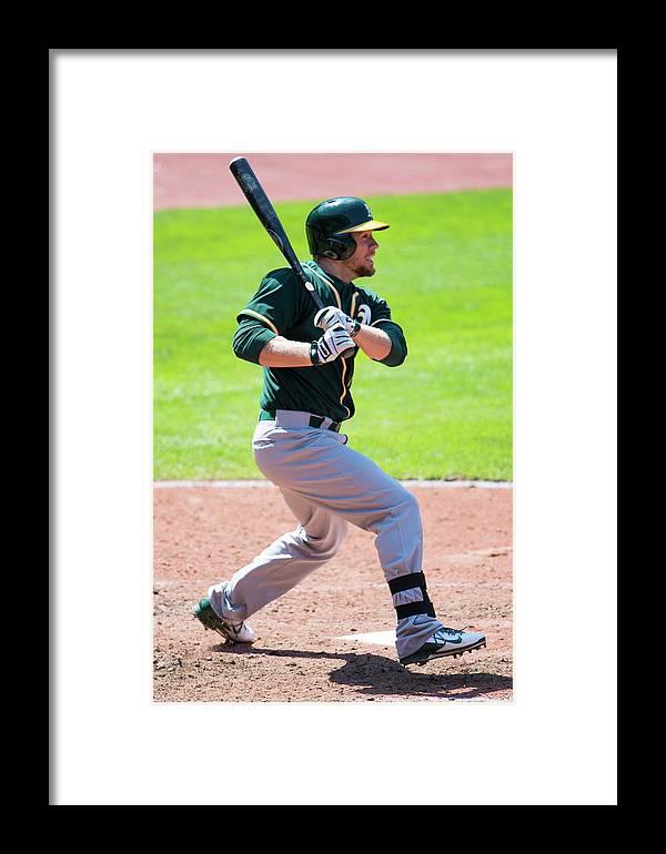 American League Baseball Framed Print featuring the photograph Brandon Moss by Jason Miller