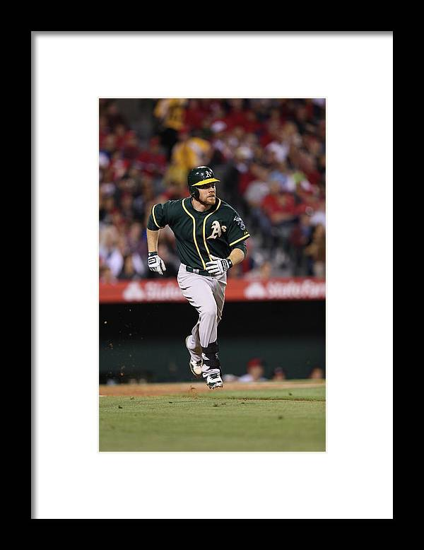 American League Baseball Framed Print featuring the photograph Brandon Moss by Paul Spinelli