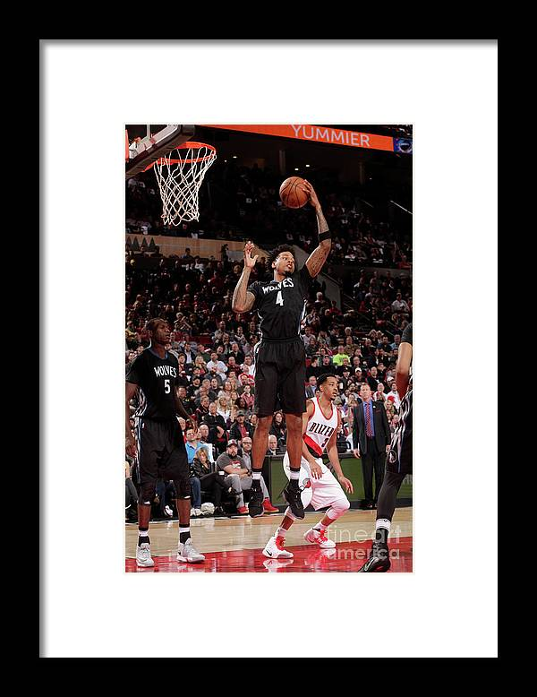 Nba Pro Basketball Framed Print featuring the photograph Brandon Rush by Cameron Browne