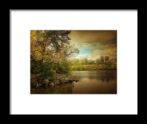 Landscape Framed Print featuring the photograph Break In The Clouds by Cedric Hampton