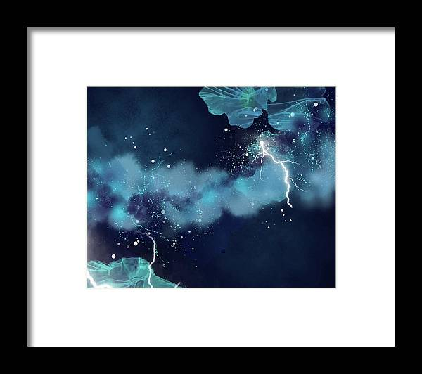 Abstract Framed Print featuring the painting Breaking Silence by Art by Gabriele