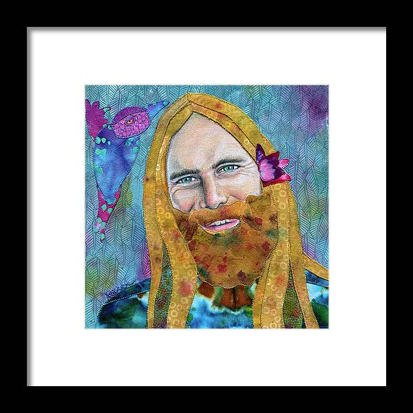 Brent Mydland Framed Print featuring the mixed media Brent Mydland REAL LOVE by Karen Payton