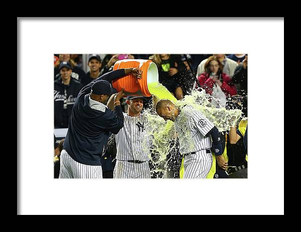 Ninth Inning Framed Print featuring the photograph Brett Gardner and Derek Jeter by Elsa