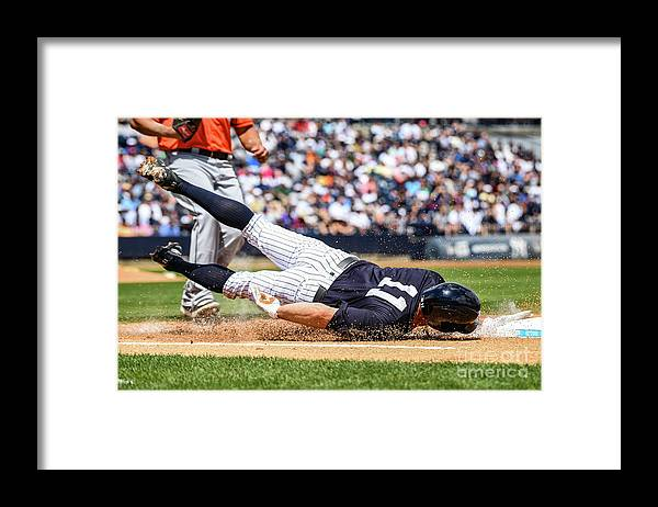People Framed Print featuring the photograph Brett Gardner by Mark Brown