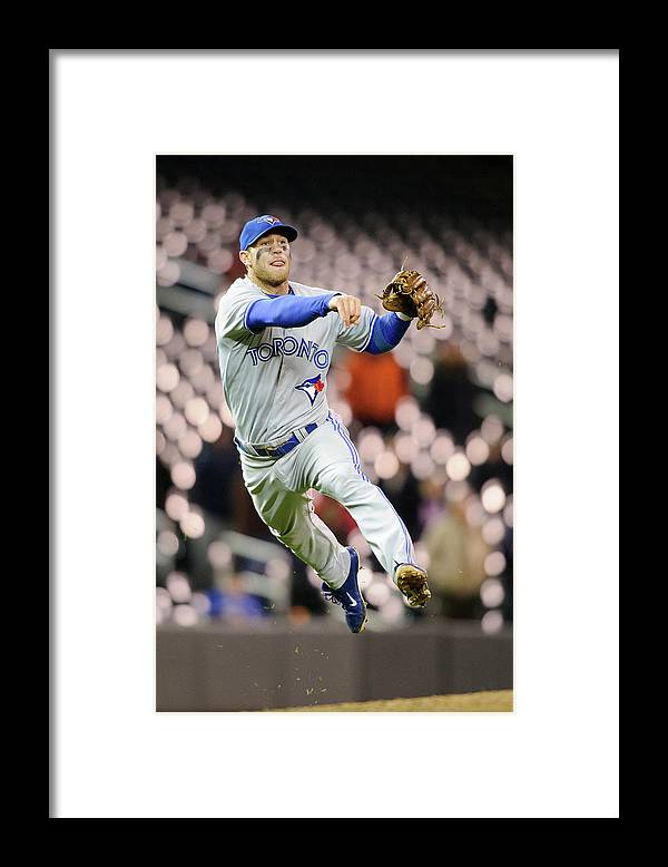Game Two Framed Print featuring the photograph Brett Lawrie by Hannah Foslien