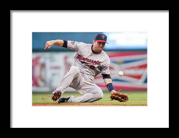 American League Baseball Framed Print featuring the photograph Brian Dozier and David Murphy by Jason Miller