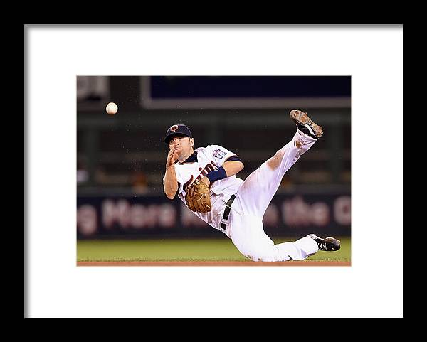 People Framed Print featuring the photograph Brian Dozier and Ike Davis by Hannah Foslien