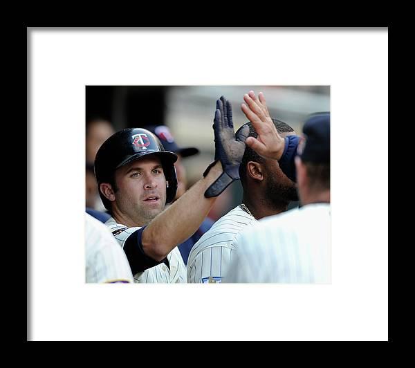 American League Baseball Framed Print featuring the photograph Brian Dozier by Hannah Foslien