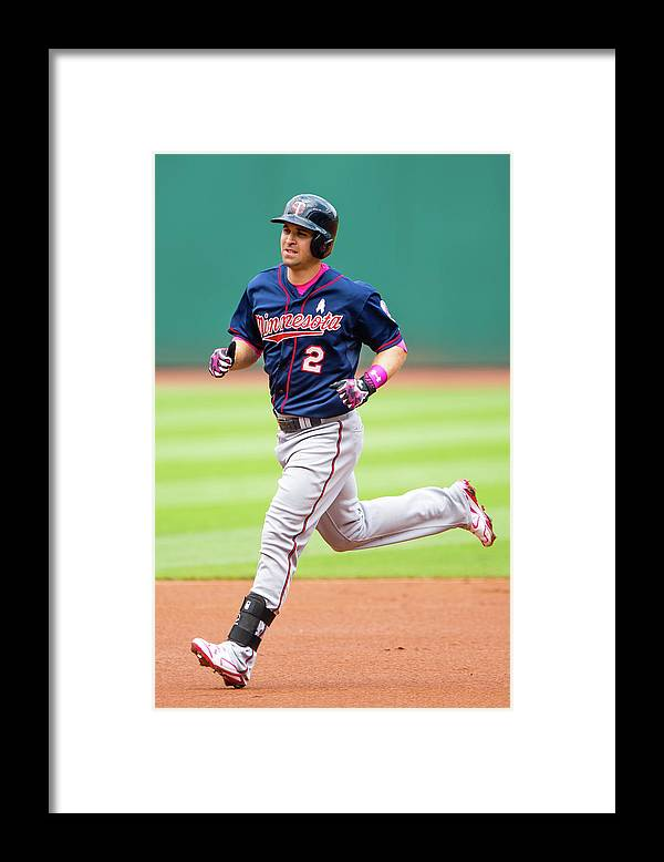 People Framed Print featuring the photograph Brian Dozier by Jason Miller