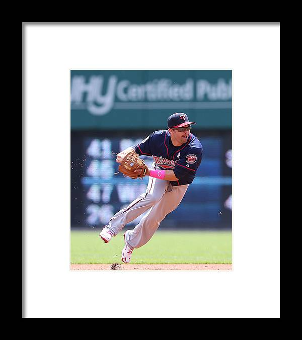 Second Inning Framed Print featuring the photograph Brian Dozier by Leon Halip