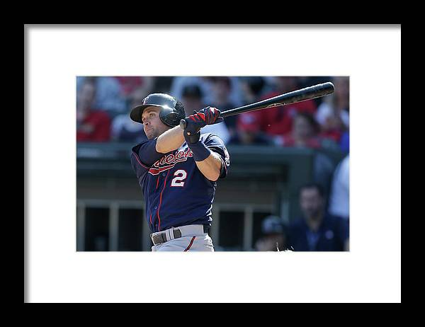 People Framed Print featuring the photograph Brian Dozier by Mike Mcginnis