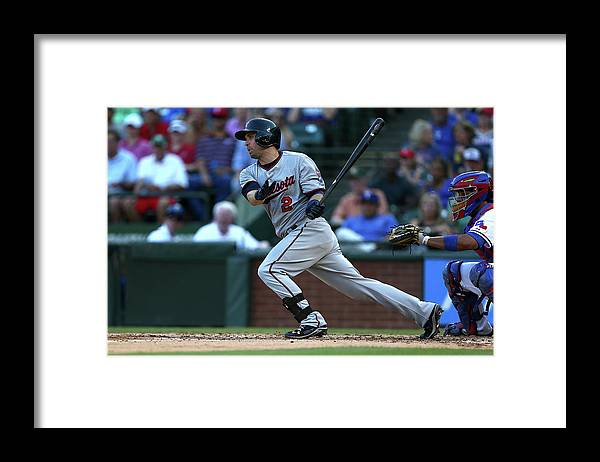 People Framed Print featuring the photograph Brian Dozier by Sarah Crabill