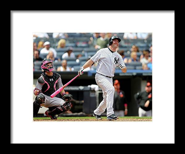 Brian Mccann Framed Print featuring the photograph Brian Mccann and Caleb Joseph by Elsa