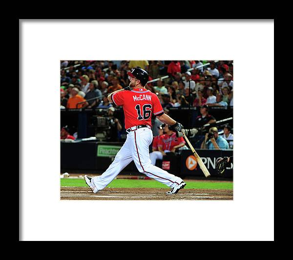 Atlanta Framed Print featuring the photograph Brian Mccann by Scott Cunningham
