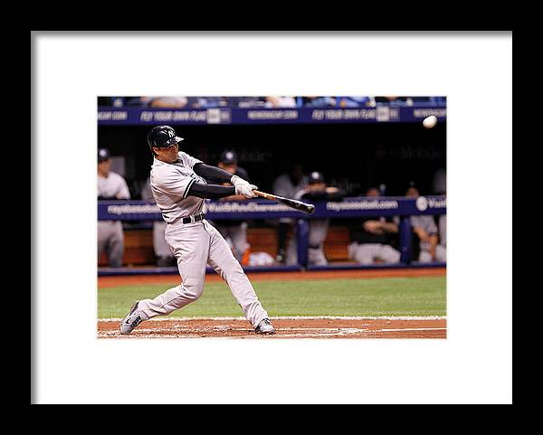 Second Inning Framed Print featuring the photograph Brian Roberts by Brian Blanco