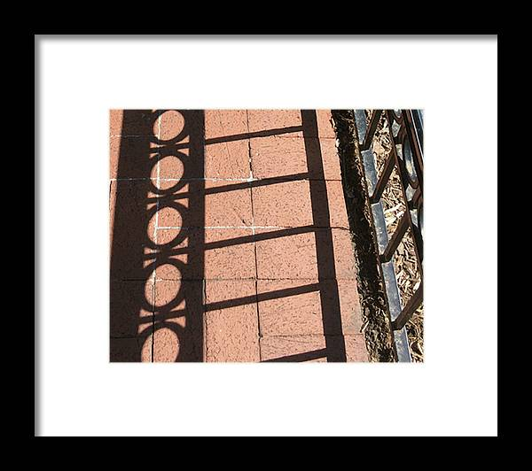 Photograph Framed Print featuring the photograph Brick on Five by Richard Wetterauer