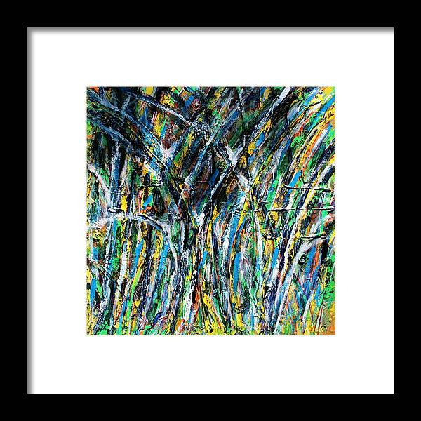 Blue Framed Print featuring the painting Bright Summer Day by Pam Roth O'Mara