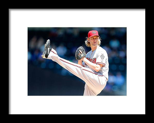 American League Baseball Framed Print featuring the photograph Bronson Arroyo by Mike Stobe