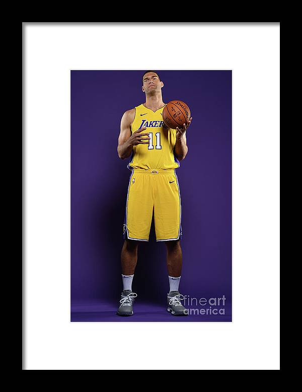 Media Day Framed Print featuring the photograph Brook Lopez by Aaron Poole