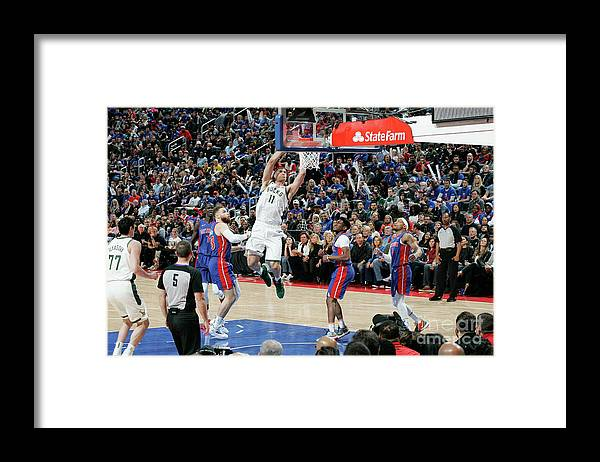 Playoffs Framed Print featuring the photograph Brook Lopez by Brian Sevald