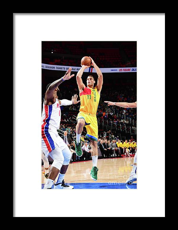 Nba Pro Basketball Framed Print featuring the photograph Brook Lopez by Chris Schwegler