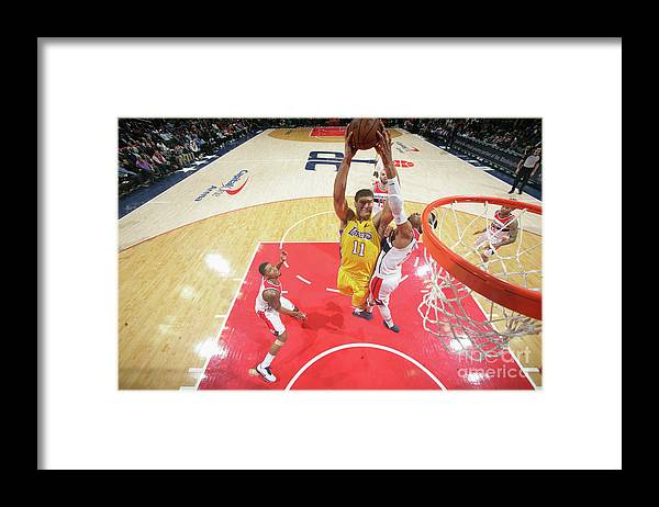 Nba Pro Basketball Framed Print featuring the photograph Brook Lopez by Ned Dishman