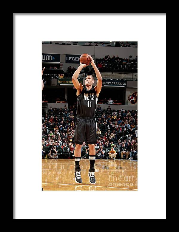 Nba Pro Basketball Framed Print featuring the photograph Brook Lopez by Ron Hoskins