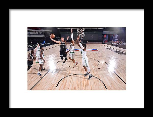 Nba Pro Basketball Framed Print featuring the photograph Brooklyn Nets v Boston Celtics by Bill Baptist