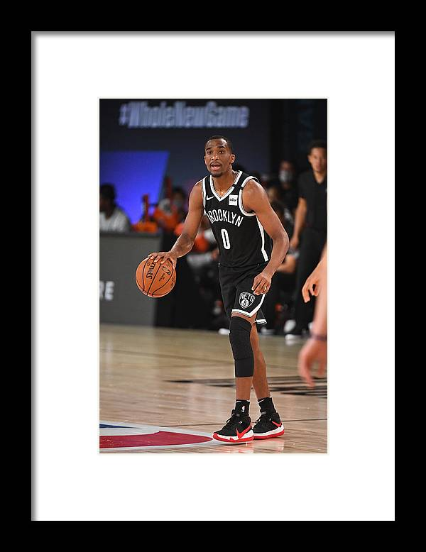 Nba Pro Basketball Framed Print featuring the photograph Brooklyn Nets v San Antonio Spurs by Garrett Ellwood