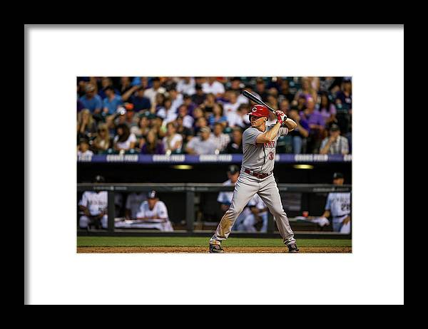 National League Baseball Framed Print featuring the photograph Bruce Fields by Dustin Bradford