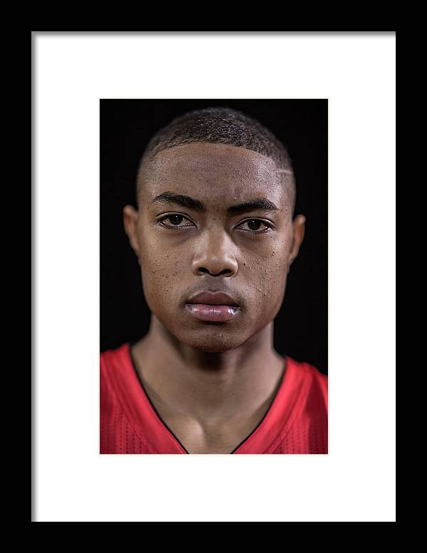 Nba Pro Basketball Framed Print featuring the photograph Bruno Caboclo by Nick Laham