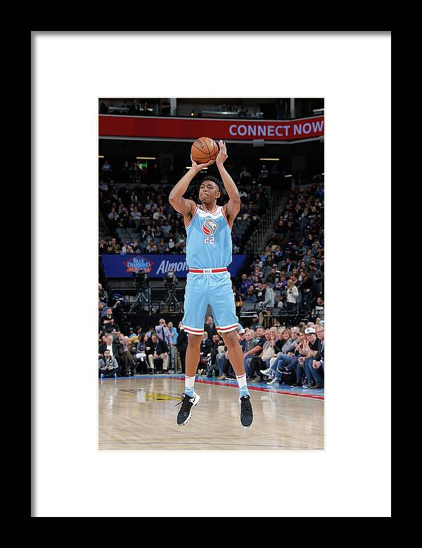Nba Pro Basketball Framed Print featuring the photograph Bruno Caboclo by Rocky Widner