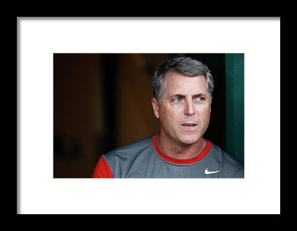 Great American Ball Park Framed Print featuring the photograph Bryan Price by Joe Robbins