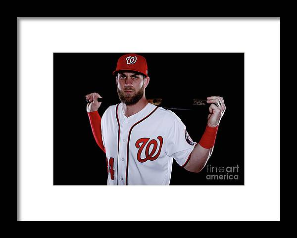 Media Day Framed Print featuring the photograph Bryce Harper by Chris Trotman