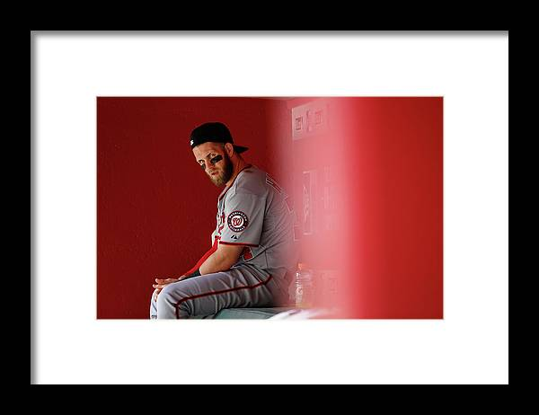 American League Baseball Framed Print featuring the photograph Bryce Harper by Christian Petersen