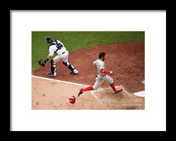 People Framed Print featuring the photograph Bryce Harper by Denis Poroy