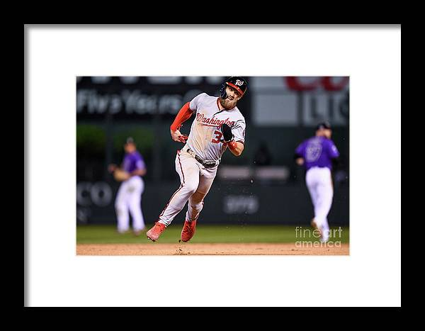 Ninth Inning Framed Print featuring the photograph Bryce Harper by Dustin Bradford
