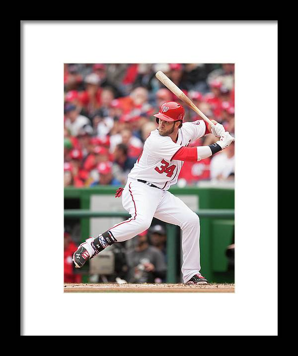 National League Baseball Framed Print featuring the photograph Bryce Harper by Mitchell Layton