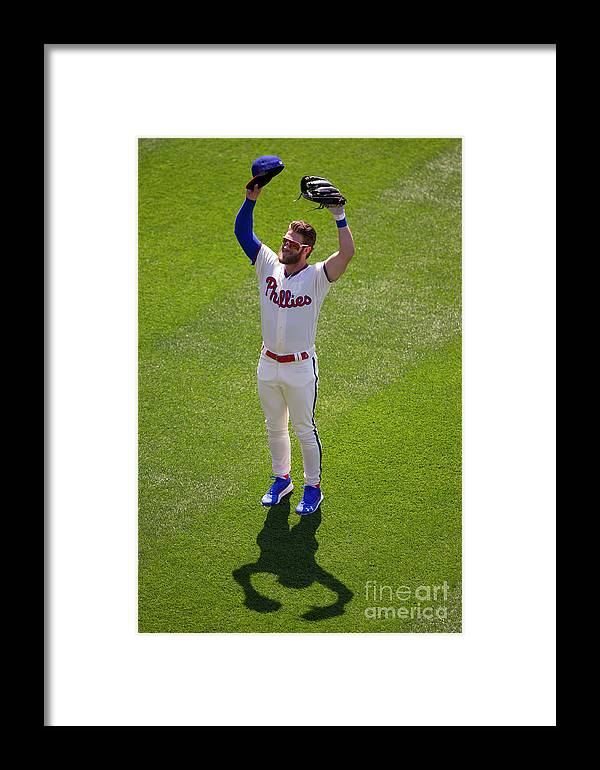 Crowd Framed Print featuring the photograph Bryce Harper by Mitchell Leff