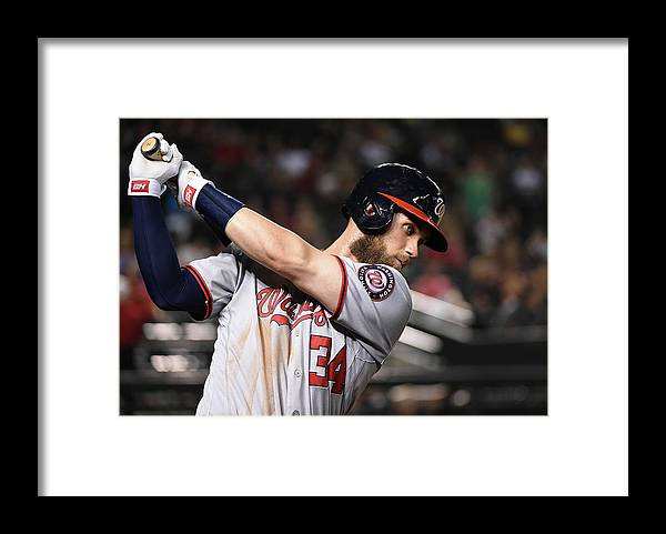 People Framed Print featuring the photograph Bryce Harper by Norm Hall