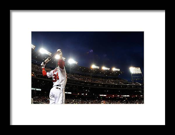 National League Baseball Framed Print featuring the photograph Bryce Harper by Patrick Mcdermott
