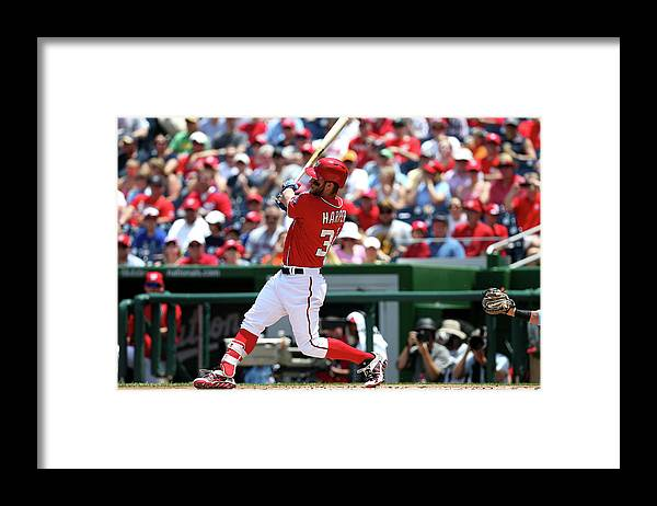 Following Framed Print featuring the photograph Bryce Harper by Patrick Smith