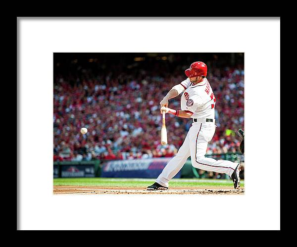 St. Louis Cardinals Framed Print featuring the photograph Bryce Harper by Rob Tringali
