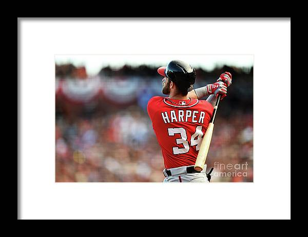 San Francisco Framed Print featuring the photograph Bryce Harper by Thearon W. Henderson